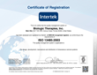 Biologic Therapies, Inc. Achieves ISO 13485:2003 Certification