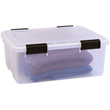 7.65 Gallon Airtight Storage Box - IRIS USA. This style of container is airtight and water resistant. It will be used to ship books overseas.