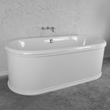 "'The Knightsbridge66' 66"" Cast Iron Double Ended Tub Package"