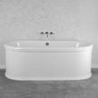 "'The Knightsbridge73' 73"" Cast Iron Double Ended Tub Package"