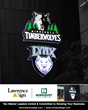 Lawrence Sign Lights Up Downtown Minneapolis with Minnesota Timberwolves and Lynx Signage