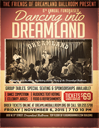 Poster for the 6th Annual Dancing into Dreamland Fundraiser