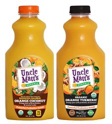 Uncle Matt's Organic Orange Coconut and Organic Orange Turmeric