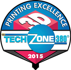 Afinia 3D Wins TechZone 360 2015 3D Printing Excellence Award