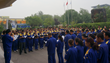 Jinan Jinda employees gather for daily meeting