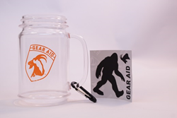 mason jar mug, tenacious tape tattoos, gear aid