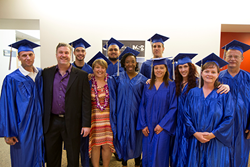 The first class of Massage Thearapy certificate students graduated from the Maricopa Skill Center in June, 2015.