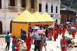 Scientology Volunteer Ministers tent at the famous Hindu Pasupatinath Temple on the banks of the Bagmati River in Kathmandu