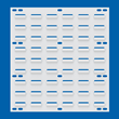 Akro-Mils White Louvered Panel