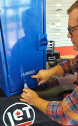 JET Uniform correctional facility laundry soap dispenser