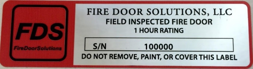 Compliance Critical Fire Door And Frame Labeling