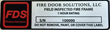 Fire Door Solutions Fire Door Frame Label
