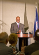 Virginia Secretary of Commerce and Trade Maurice Jones speaks at VALET graduation