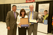 Congressmen Tony Cardenas and Brad Sherman with Signature Flight Support's CEO Maria Sastre