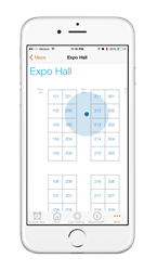 Indoor Positioning in association event app