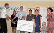 C&S Executive Vice President Bob Palmer (far right) presents a ceremonial check for the Children's Hospital at Dartmouth-Hitchcock.
