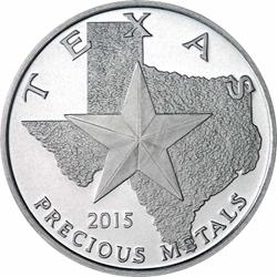 Texas Silver Round