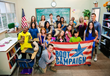 Boot Campaign COO, Staff Sergeant (Ret.) Joey Jones and actor Atticus Shaffer (ABC's The Middle) with Students.
