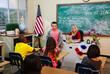 Atticus Shaffer in the classroom