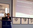 Dr. Ruth Hussey, Chief Medical officer for Wales, addresses the roundtable