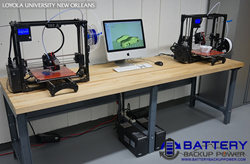 Battery Backup Power Protects Loyola University's 3D Printer Lab