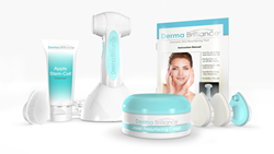 DermaBrilliance Sonic Exfoliation System which helps exfoliate and refine away signs of aging.