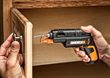 WORX SD SemiAutomatic Driver with Screw Holder is handy for assembling cabinet hardware.