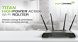 Amped Wireless TITAN, a Long Range, HighPower™ AC1900 Wi-Fi Router Is Now Available