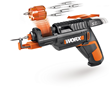 WORX SD SemiAutomatic Driver with Screw Holder features six-slot revolving chamber that rotates an assortment of bits in and out as needed.