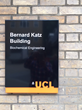 Onthecase vitrum poster cases installed outside UCL's Bernard Katz building