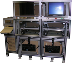 Circuit Check's 5000 Series In-line Handler interchangeable components enable the same test system to be quickly reconfigured with new tooling for different products.