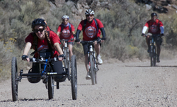 Downhill mountain bicycling at the 2014 Adventure Team Challenge Colorado.