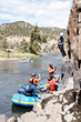 Climbing above the Colorado River at the 2014 Adventure Team Challenge Colorado.