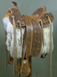 Functional art such as this leather saddle handcrafted by J.L. Blair Saddlery will be on display at the Western Design Conference in Jackson, Wyo., this September.