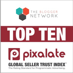 The Blogger Network ranked 9th overall in Pixalate's Global Seller Trust Index™.