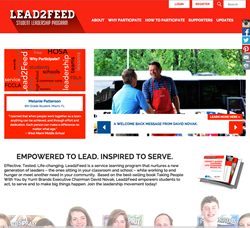 Lead2Feed.org website, designed by the digital agency Carousel30