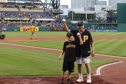 Clearview Member Throws Out First Pitch