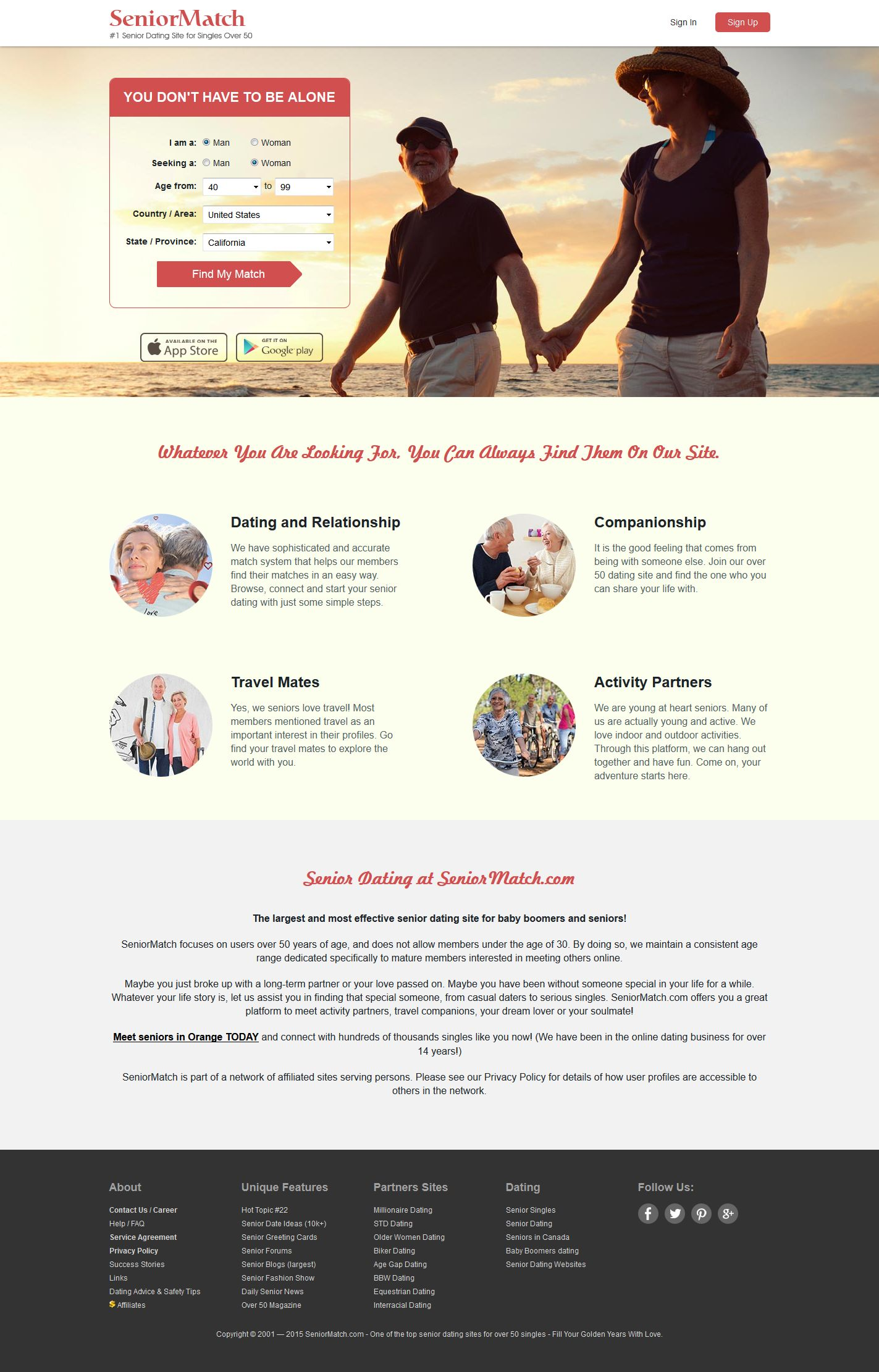 The Fastest Growing Free Senior Dating Site