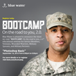 Blue Water Brings Photoshop Skills to BOOTCAMP- On the road to you, 2.0