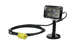 Magnetically Mounted LED Flood Light Equipped with 12' SOOW Cord
