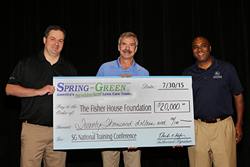Spring-Green Continues Support of Veterans with donation to Fisher...