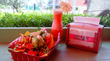 Carnitas Nachos & Strawberry Margarita