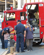 This fire engine from Seattle's Station 8 was one of the highlights of the National Night Out block party August 4, 2015, hosted by the Church of Scientology Seattle.