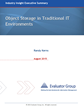 Evaluator Group Reviews Adoption of Object Storage in Traditional IT Environments