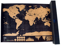 Travel Inspired Announces the Premium Scratch Off Map, a Personalized...