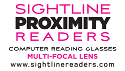 With SightLine Readers wearers get the proper amount of magnification whether using a computer, reading, or looking across the table.