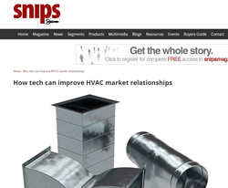 IIncentive Solutions' SNIPS Article: How New Incentive Tech Helps HVAC Market