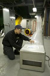 Aeroseal duct sealing technology