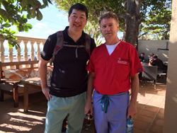 ASCRS Foundational International Committee Chair David F. Chang and Sen. Rand Paul in Haiti