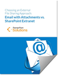 Cover of the Email vs. SharePoint extranet white paper
